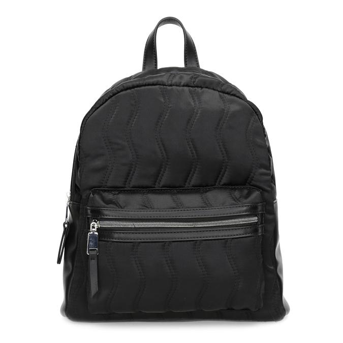 Čierny dámsky batoh s prešívaním bata, čierna, 969-6911 - 26