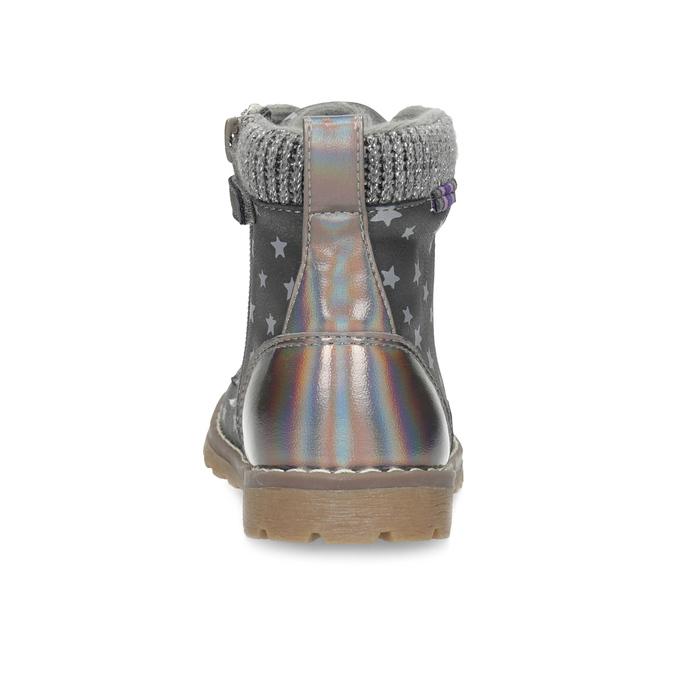 Šedá členková detská obuv s hviezdičkami mini-b, šedá, 221-2610 - 15