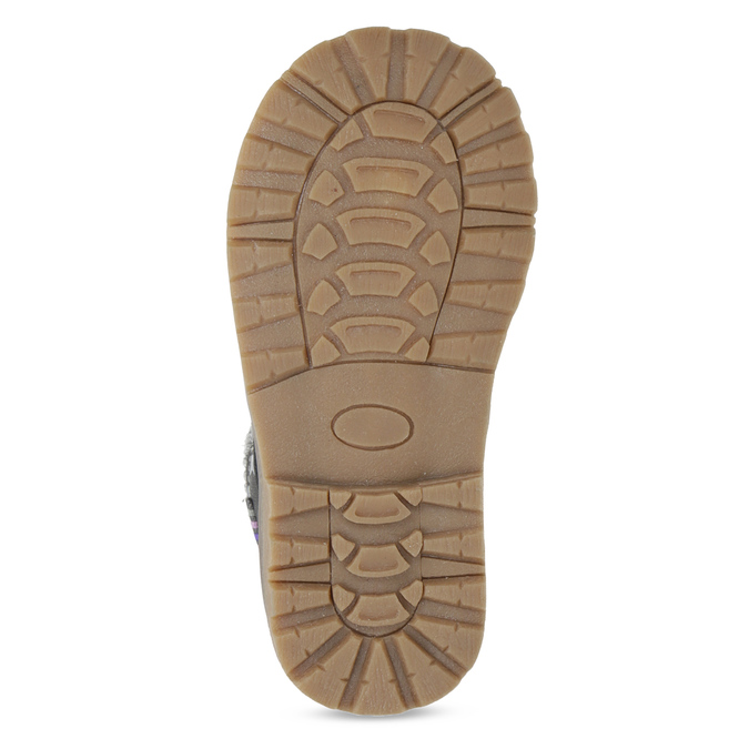 Šedá členková detská obuv s hviezdičkami mini-b, šedá, 221-2610 - 18