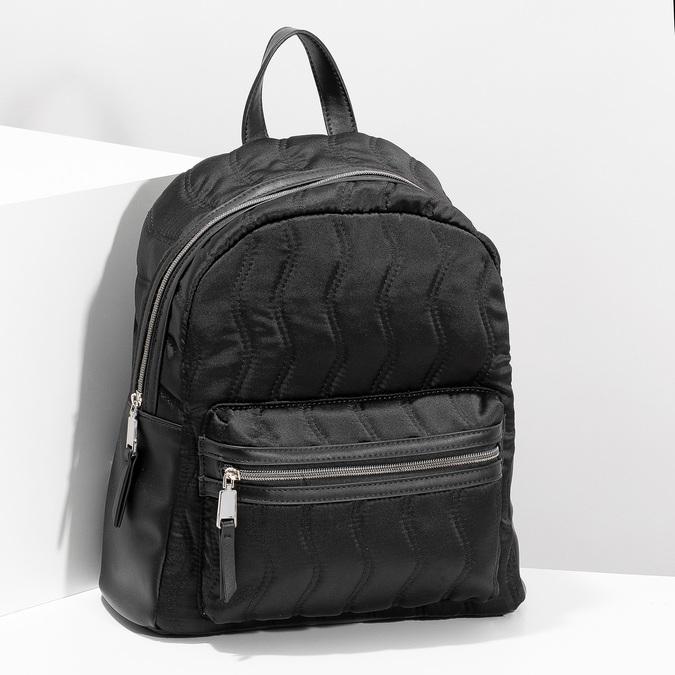 Čierny dámsky batoh s prešívaním bata, čierna, 969-6911 - 17