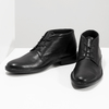 Kožená členková obuv čierna pánska hladká comfit, čierna, 824-6822 - 16