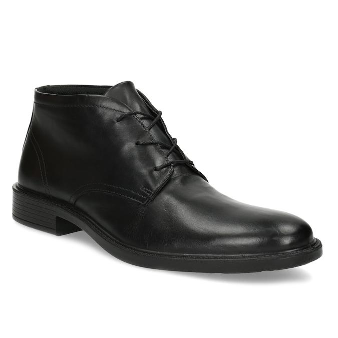 Kožená členková obuv čierna pánska hladká comfit, čierna, 824-6822 - 13