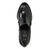 Dámske kožené poltopánky na podpätku flexible, čierna, 714-6600 - 17
