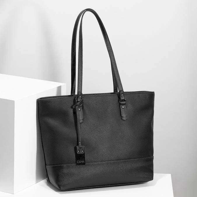 Čierna kabelka shopper bag gabor-bags, čierna, 961-6038 - 17