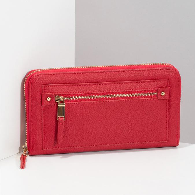 Dámska červená peňaženka so zipsom bata, červená, 941-5221 - 17