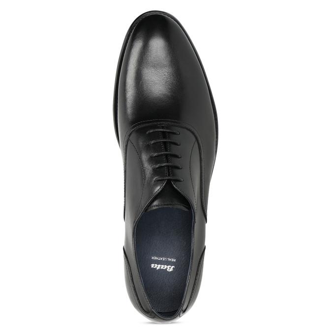 Pánske čierne kožené Oxford poltopánky bata, čierna, 824-6615 - 17