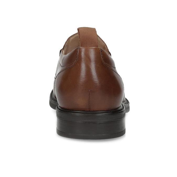 Hnedé kožené pánske mokasíny bata, hnedá, 816-3628 - 15