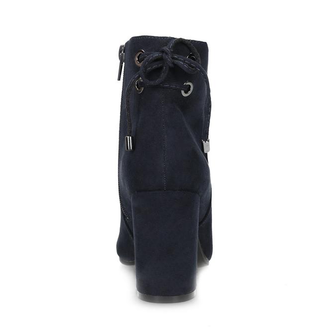 Tmavomodré dámske členkové čižmy insolia, modrá, 799-9635 - 15