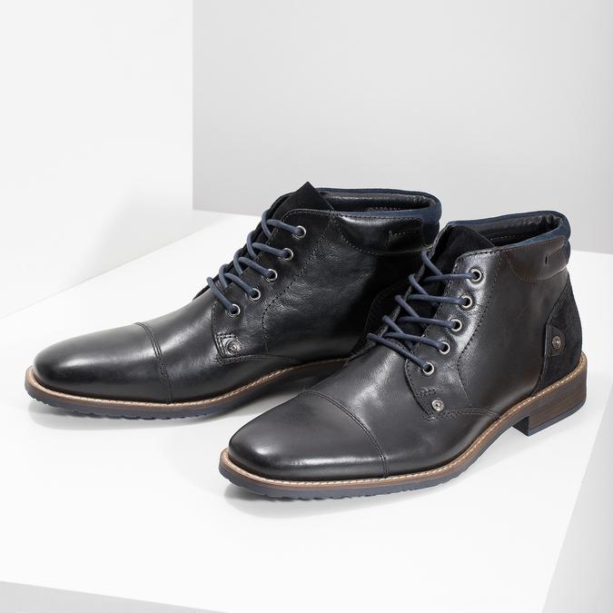 Členková pánska kožená obuv bata, čierna, 826-6611 - 16