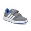 Šedé detské tenisky so suchými zipsami adidas, šedá, 301-2208 - 13