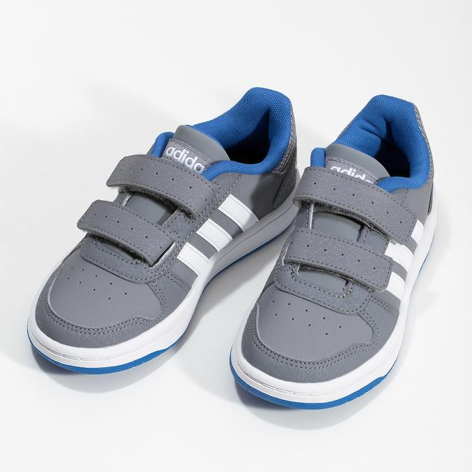 Šedé detské tenisky so suchými zipsami adidas, šedá, 301-2208 - 16