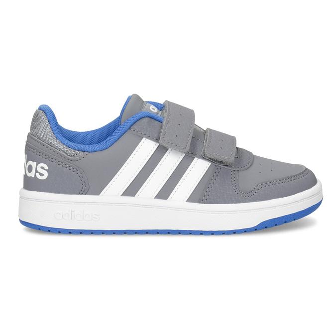 Šedé detské tenisky so suchými zipsami adidas, šedá, 301-2208 - 19
