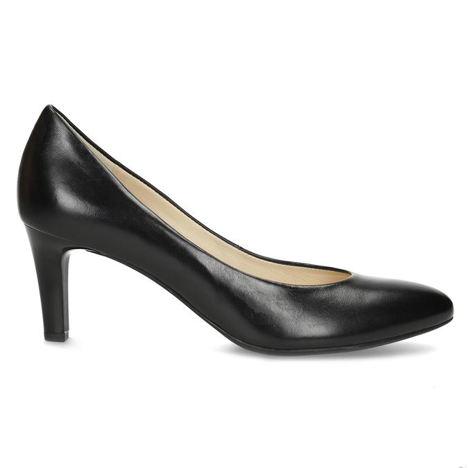 Čierne kožené dámske lodičky hogl, čierna, 724-6085 - 19
