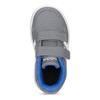 Šedé detské tenisky s modrými detailami adidas, šedá, 101-2194 - 17