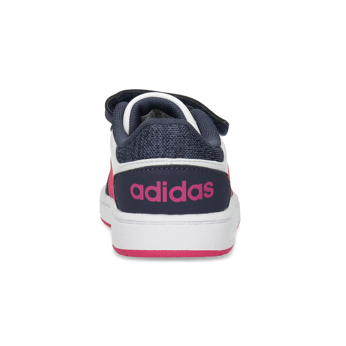Biele detské tenisky na suchý zips adidas, viacfarebné, 101-1194 - 15