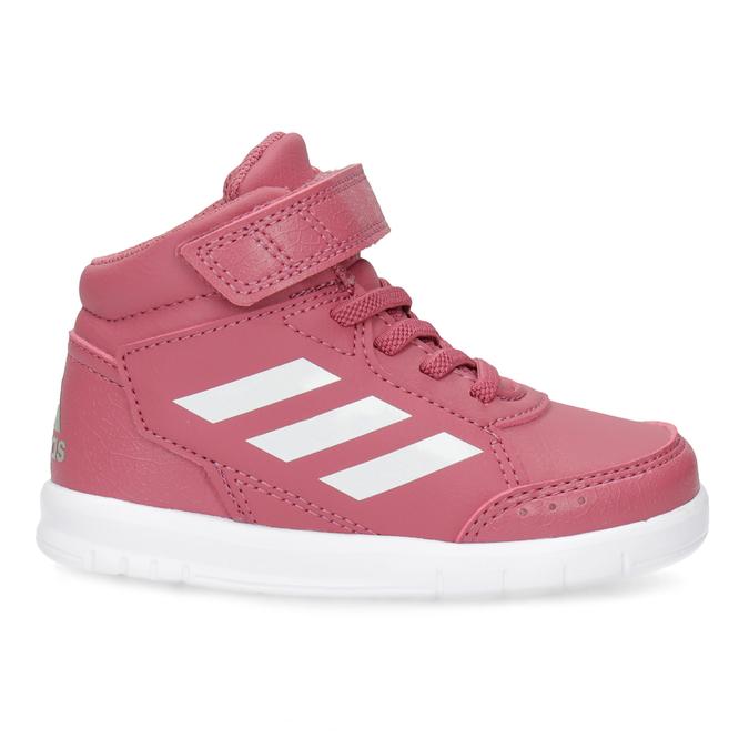 Ružové členkové detské tenisky adidas, ružová, 101-5220 - 19