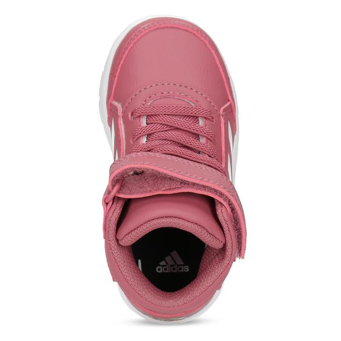 Ružové členkové detské tenisky adidas, ružová, 101-5220 - 17