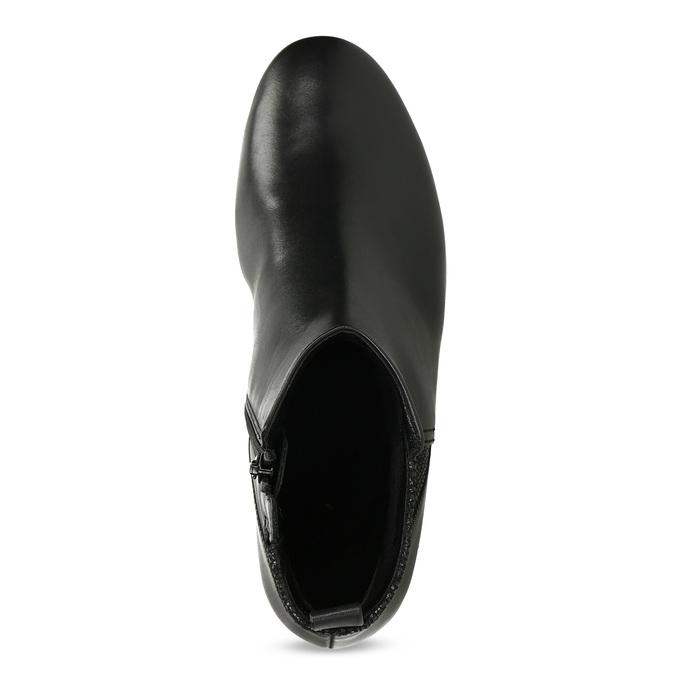 Dámske kožené čierne členkové čižmy gabor, čierna, 614-6049 - 17