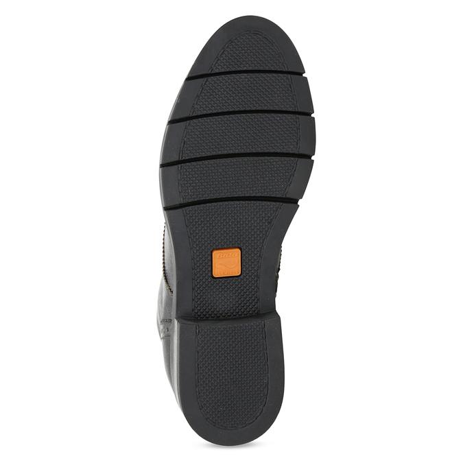 Dámska kožená metalická členková obuv flexible, strieborná, 596-6695 - 18