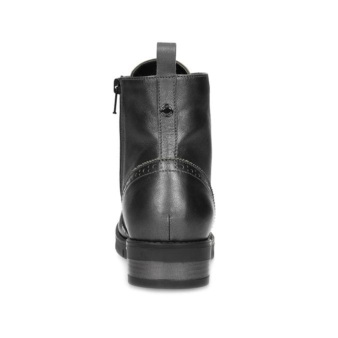 Dámska kožená metalická členková obuv flexible, strieborná, 596-6695 - 15