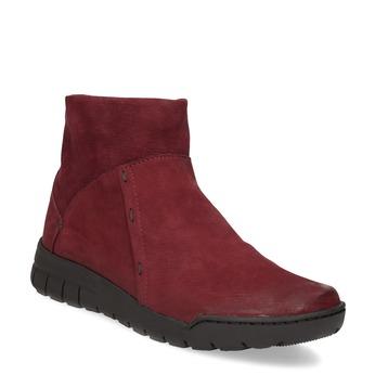 Červené kožené členkové čižmy bata, červená, 596-5706 - 13