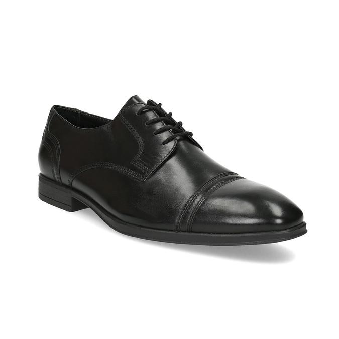 Pánske čierne kožené Derby poltopánky bata, čierna, 824-6891 - 13