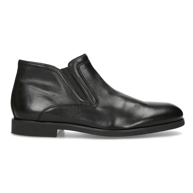 Kožená členková pánska obuv s prešitím bata, čierna, 824-6621 - 19