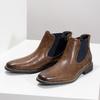 Pánska kožená obuv v štýle Chelsea bata, hnedá, 826-3865 - 16