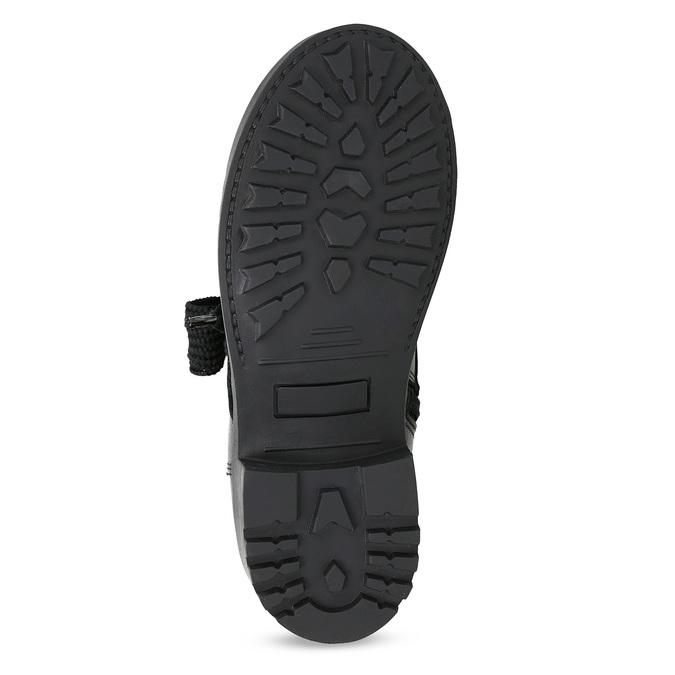 Kožená členková detská obuv mini-b, čierna, 424-6600 - 18