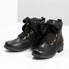 Kožená členková detská obuv mini-b, čierna, 424-6600 - 16