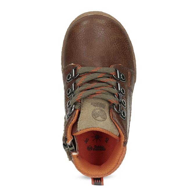 Chlapčenská členková hnedá obuv bubblegummers, hnedá, 111-4629 - 17