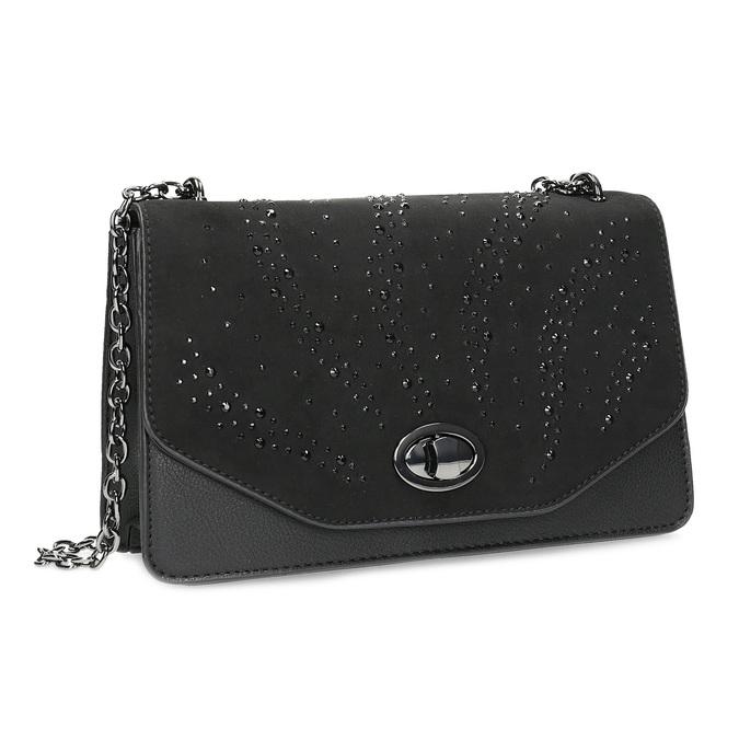 Dámska čierna Crossbody kabelka bata, čierna, 969-6874 - 13