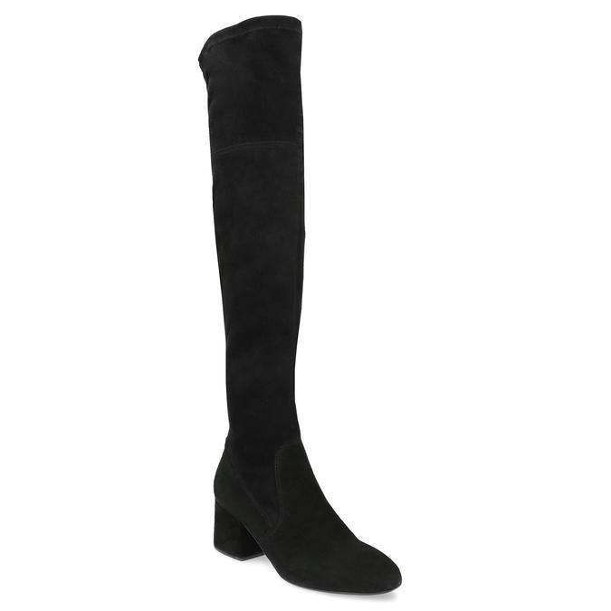 Čierne čižmy na stabilnom podpätku bata, čierna, 793-6614 - 13