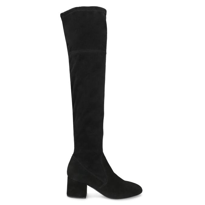 Čierne čižmy na stabilnom podpätku bata, čierna, 793-6614 - 19