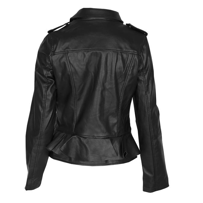 Dámska bunda s volánom bata, čierna, 971-6213 - 26