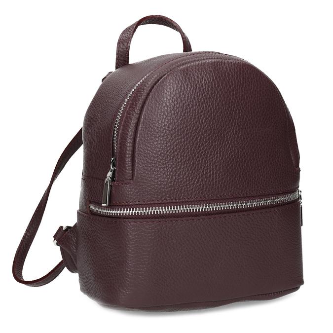 Kožený vínový mestský batôžtek bata, červená, 964-5301 - 13