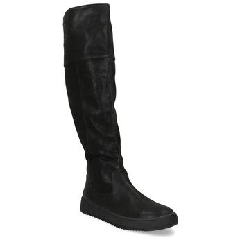 Dámske čierne čižmy s výrazným zipsom bata, čierna, 691-6636 - 13