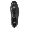 Kožené pánske poltopánky s rovnou špičkou climatec, čierna, 824-6660 - 17