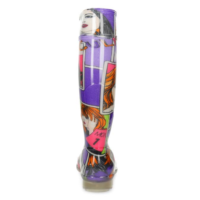 Dámske komixové gumáky bata, viacfarebné, 592-0606 - 15