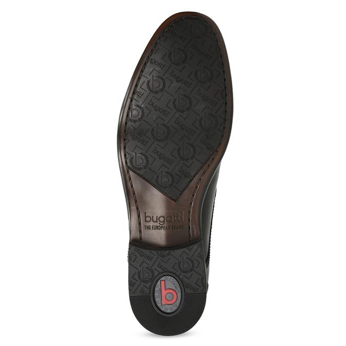 Kožené čierne derby pánske poltopánky bugatti, čierna, 824-6087 - 18
