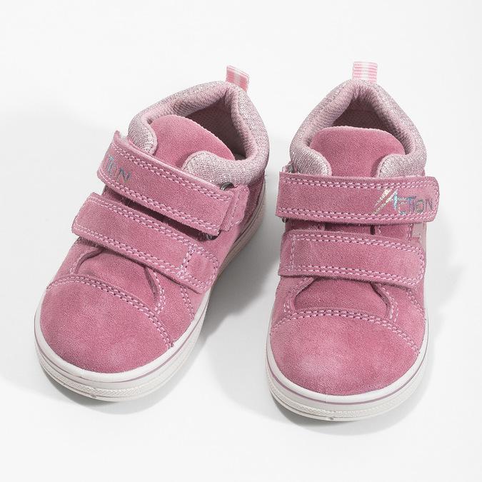 Ružové detské kožené tenisky bubblegummers, ružová, 123-5611 - 16
