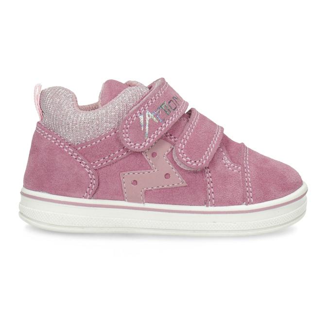 Ružové detské kožené tenisky bubblegummers, ružová, 123-5611 - 19