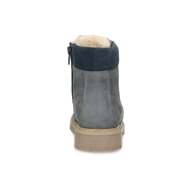 Kožená detská členková obuv weinbrenner-junior, modrá, 416-9608 - 15