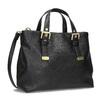 Čierna kabelka so zlatými sponami bata, čierna, 961-6886 - 13