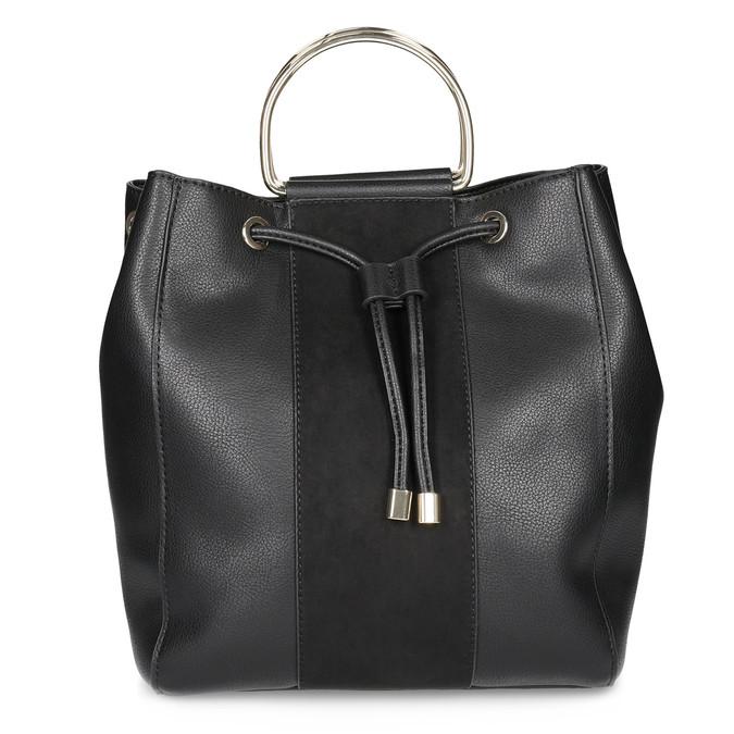 Čierna dámska Bucket kabelka bata, čierna, 961-6890 - 26
