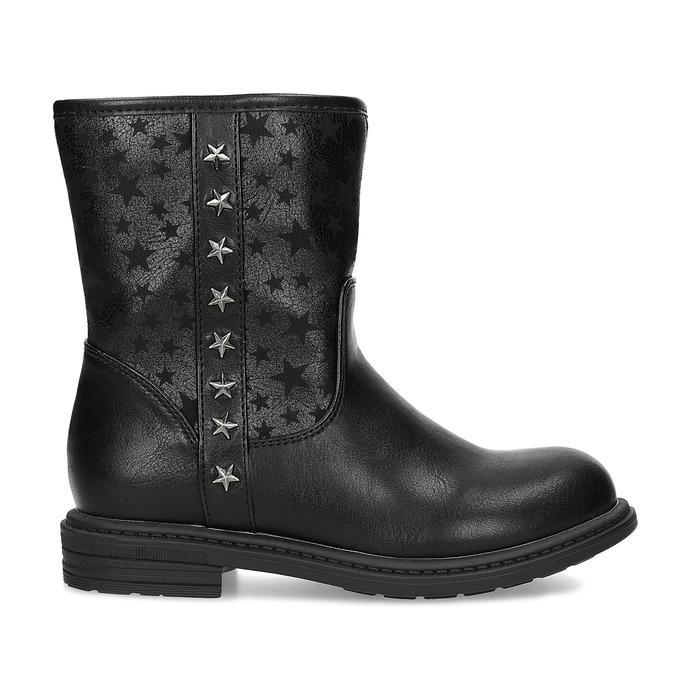 Dievčenské zateplené čižmy s hviezdičkami mini-b, čierna, 291-6173 - 19