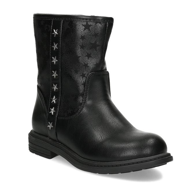 Dievčenské zateplené čižmy s hviezdičkami mini-b, čierna, 291-6173 - 13