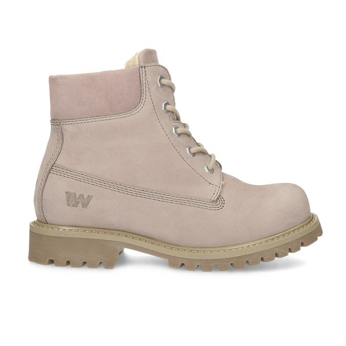 Ružová kožená členková obuv weinbrenner-junior, ružová, 326-5608 - 19