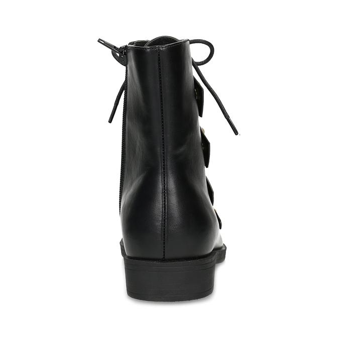 Vysoká členková obuv s perličkami bata, čierna, 591-6634 - 15