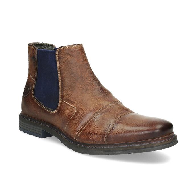 Kožená hnedá členková obuv bugatti, hnedá, 816-4065 - 13
